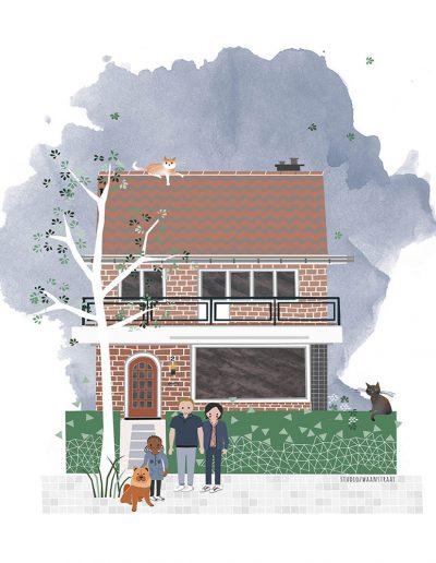 huisportret 'Floor en Lennert'