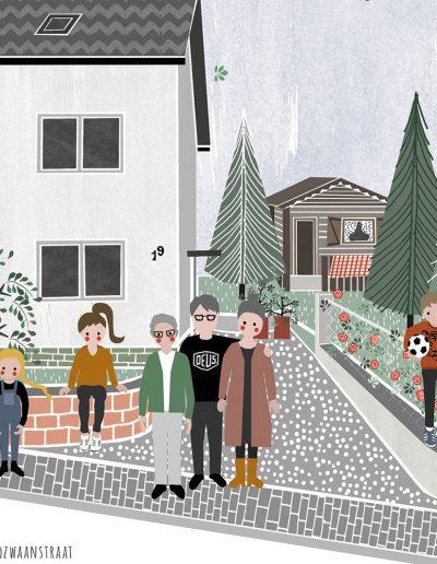 detail huisportret Reinigerstrasse