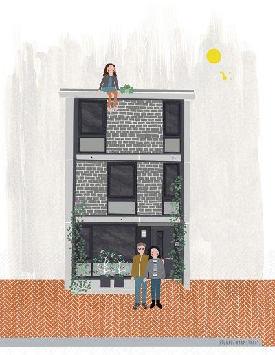 huisportret 'Vincent en Brigitte'