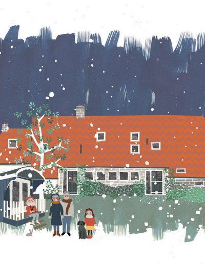 huisportret 'De Blauwe Bok'