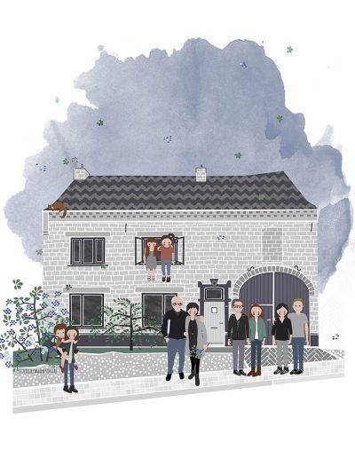 huisportret Rozenlaan