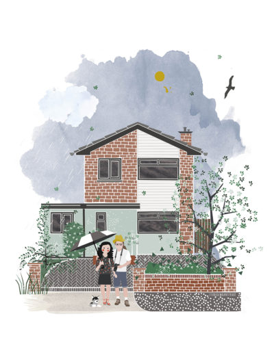 huisportret 'Lore en James'