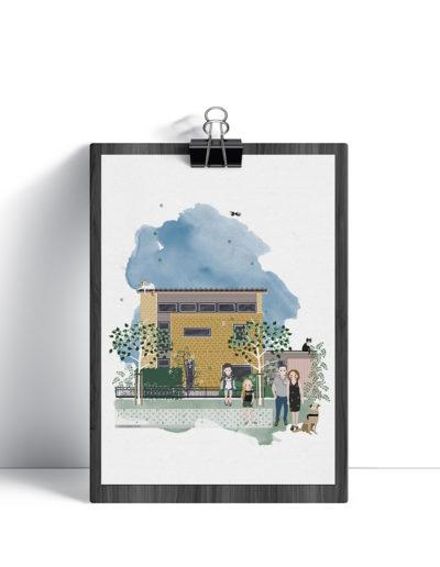 huisportret Oranjegeelstraat